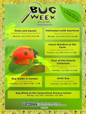 Bug week flyer - all programs listed